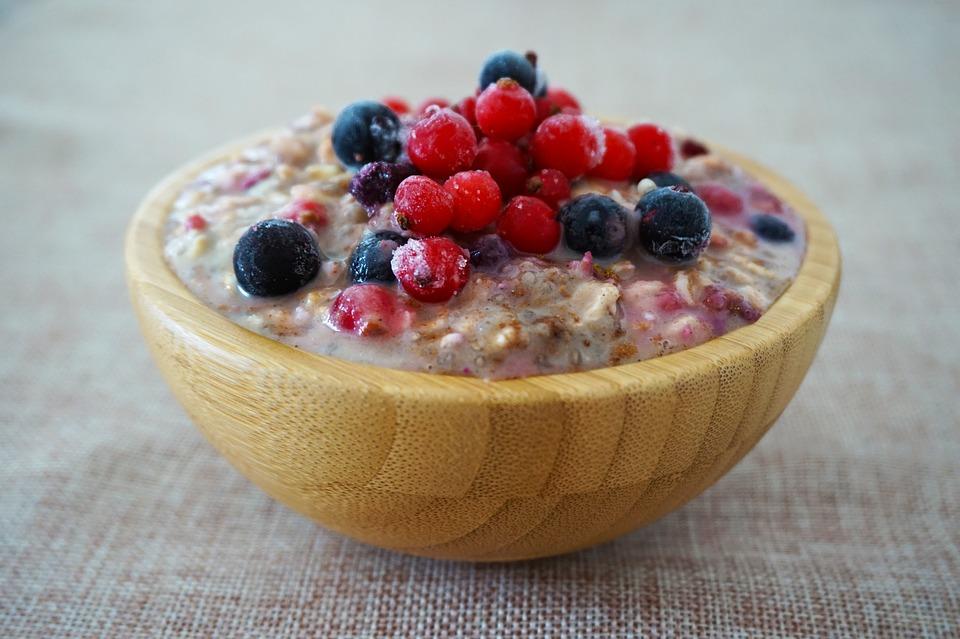 Ovesná kaše na snídani